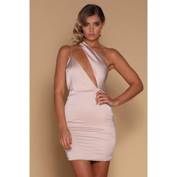 ab06149343f33 Meshki Satin Mini Dress